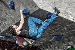 Momentos del Open de escalada en bloque en la Sala Deu Dits de Barcelona Ciudad.